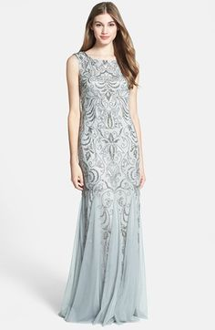 Adrianna Papell Beaded Mermaid Gown (Regular & Petite) available at #Nordstrom