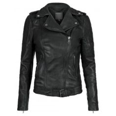 Muubaa Nido Leather Quilted Jacket in Black, US4, EU 36, New, tags attached.