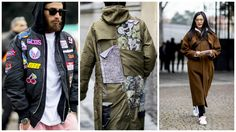 Cold weather fashion inspo from Florence's Pitti Uomo via Cold Weather Fashion, Cold Weather Outfits, Men's Coats And Jackets, Winter Jackets, Bomber Coat, Men Online, Star Fashion, Canada Goose Jackets, Latest Trends
