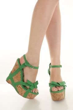 too cute! $37 Green Faux Leather Strappy Knotted Accent Cork Platform Wedges @ Amiclubwear Wedges Shoes Store:Wedge Shoes,Wedge Boots,Wedge Heels,Wedge Sandals,Dress Shoes,Summer Shoes,Spring Shoes,Prom Shoes,Women's Wedge Shoes,Wedge Platforms Shoes,floral wedges,Fash