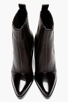 KENZO Black leather Paris Texas Kara boots