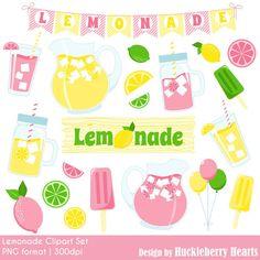 80% OFF SALE Lemonade Clipart, Lemon Clipart, Pink Lemonade, Lemonade Stand, Printable, Commercial Use