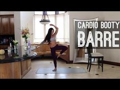 Cardio Booty Barre Sculpt (tone your booty at home) - YouTube