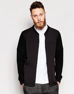 ASOS Bomber with Scuba Front
