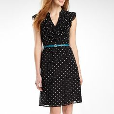 Worthington® Ruffle-Front Belted Dress - Petite - jcpenney