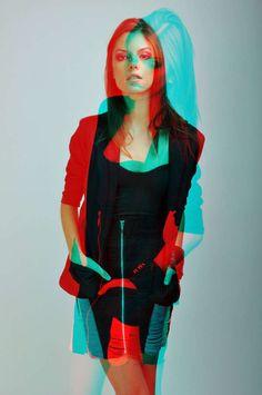 3D-Inspired Fashion Shoots - Juma Herrera's 'Dalia Ramos 2010' Series Jumps Right Out at You (GALLERY)
