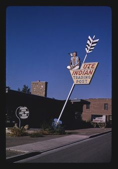 Ute Indian Trading Post signs, Route 40