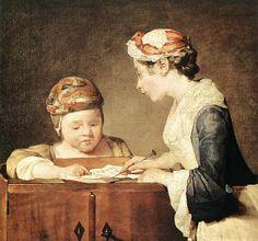 Jean Siméon Chardin (1699–1779), The Young Schoolmistress, circa 1736, oil on canvas