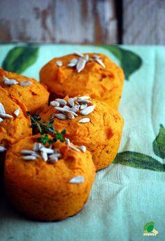dyniowo-marchewkowe muffinki