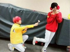 L.Joe and Changjo backstage of their Candy performance, Teen Top XD