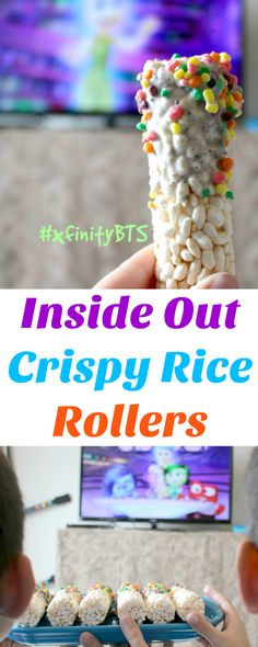 Just because we're going Back To School doesn't mean we can't sill have Movie Night!!!  Inside Out Rice Rollers http://freebies4mom.com/xfinitybts/ #ad #xfinityBTS