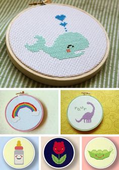 Cute cross stitch hoops