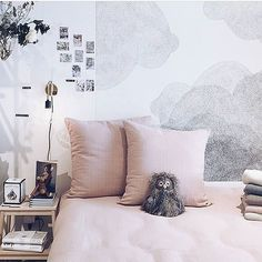 Fesselnd The Sweetest Bedroom ( By @lalangerie ) With Cloudy ! #bienfaitparis  #wallpaper #