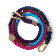 Your evening walk just got a chic upgrade with the Cosmic Storm Ombre Rope Dog Leash. You and your pup will turn heads at every corner!