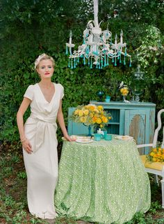 teal, green, and yellow wedding ideas // photo by pure7studios // styling by Shelby Peaden