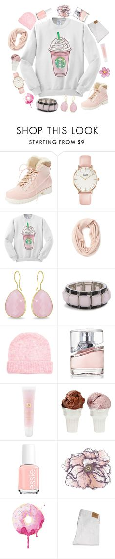 """""""And I have miles to go before I sleep"""" by taffythelaffy ❤ liked on Polyvore featuring Australia Luxe Collective, CLUSE, Forever 21, Ice, Chico's, American Vintage, BOSS Hugo Boss, Lancôme, Sin and Essie"""