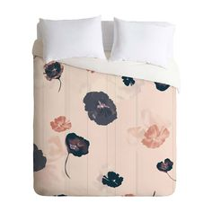 This striking duvet cover captures the beauty of a spring day: bright flowers floating through the air, landing wherever they might. In this case, they're falling on your bed. The sweet pink hue is ver...  Find the Floating Flowers Duvet Cover, as seen in the Happy Hibernating Collection at http://dotandbo.com/collections/happy-hibernating?utm_source=pinterest&utm_medium=organic&db_sku=103372