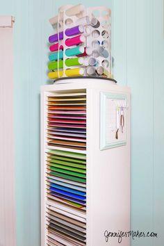 My paper/vinyl organizer tower