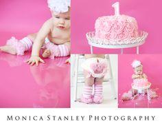 Baby's 1st Birthday   Smash Cake   Monica Stanley Photography