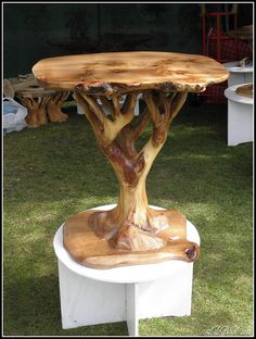 Driftwood furniture - Weird and Wonderful Wood Fair Haughley Park Driftwood Furniture, Tree Furniture, Rustic Furniture, Antique Furniture, Western Furniture, Modern Furniture, Outdoor Furniture, Furniture Ideas, Driftwood Table