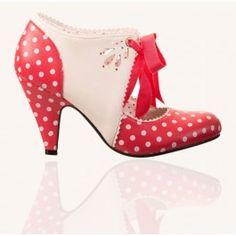 Chaussures Escarpins Pin-Up Rockabilly 50's Mary Beth Pois Polka