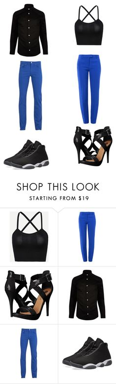 """""""Untitled #312"""" by kassidyrobinson on Polyvore featuring Boutique Moschino, Michael Antonio, River Island, Versace and NIKE"""
