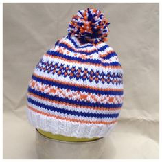Hand Knit Fair Isle Toddler Hat with Pompom on Etsy, $20.00 CAD