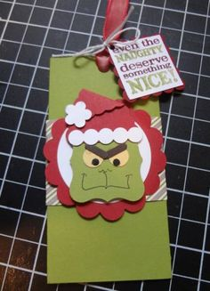 Grinchy Gift Card Holder-closed by lizzier - Cards and Paper Crafts at Splitcoaststampers