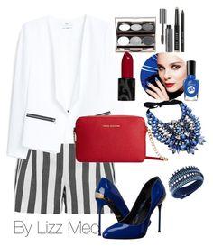 """Red one"" by lizz-med on Polyvore featuring moda, sass & bide, MANGO, Michael Kors, Roberto Cavalli, Swarovski y Bobbi Brown Cosmetics"