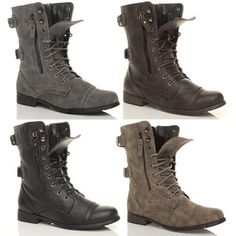 WOMENS MILITARY LADIES COMBAT ARMY LACE UP BOOTS