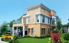 Home Design Plan with 5 Bedrooms.House description:One Car Parking and gardenGround Level: Living room, 2 Bedrooms, Dining room, Kitchen House Plans Mansion, Duplex House Plans, Luxury House Plans, Online Architecture, Architecture Magazines, Amazing Architecture, Double Storey House Plans, Two Story House Plans, Modern House Floor Plans