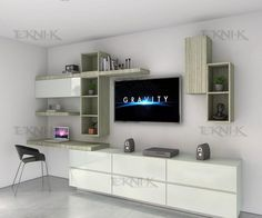 38 things you should know about living room design with television 24 ~ Design And Decoration Tv Unit Furniture, Furniture Design, Desk In Living Room, Living Room Decor, Sala Grande, Living Room Tv Unit Designs, Home Office Design, House Rooms, Interior Design