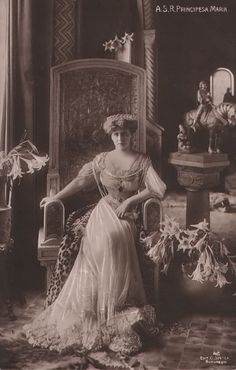 Her Royal Highness Marie The Crown Princess of Romania Vintage Photographs, Vintage Photos, Old King, Edwardian Era, Victorian, Kaiser, Queen Victoria, World History, Royals