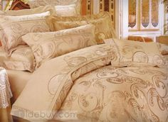Luxury Thicken Top Grade Embroidery 4 Piece Bedding Sets