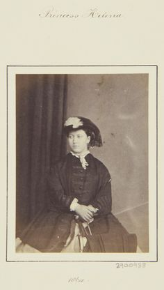 Princess Helena, 1864 [in Portraits of Royal Children Vol.8 1864-1865]   Royal Collection Trust