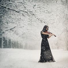 snow. I dont play Violin but this is beautiful