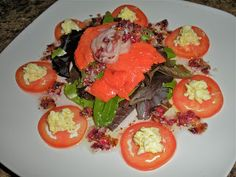 Chef JD's Classic Cuisine: Salade of Smoked Salmon and Spring Lettuce with Ro...
