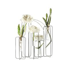 The traditional bud vase gets reimagined with this minimalist, wire frame container. Reminiscent of buildings in the skyline, the staggered heights allow each flower to carve out its own space and shin...  Find the In The Distance Bud Vase, as seen in the Timeless Mid-Century Ranch Collection at http://dotandbo.com/collections/timeless-mid-century-ranch?utm_source=pinterest&utm_medium=organic&db_sku=97584