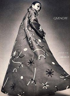 Model is wearing a creation og Givenchy.Vogue Paris,September 1971.