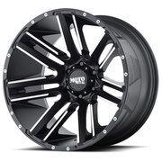 Moto Metal Razor Wheels Rims 20x12 Black 6x5.5 (6x139.7) -44mm | MO97821268544N | Free Shipping!