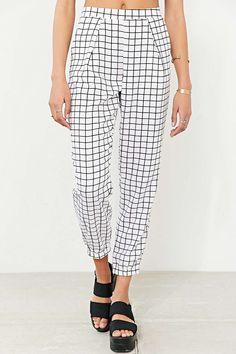 Glamorous White Check Pant
