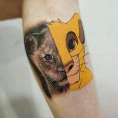 Baby Simba, Simba And Nala, Lion King Simba, Disney Castle Tattoo, Disney Princess Tattoo, Disney Tattoos Small, Small Tattoos, Simba Tattoo, Tatoo