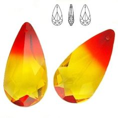 6100 Teardrop 24mm Fireopal  Dimensions: 24,0x12,0 mm Colour: Fireopal 1 package = 1 piece