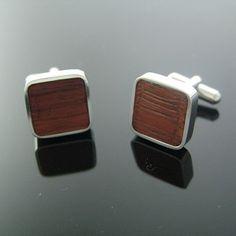 Mid Century Inspired Modern Wood Cufflinks by cuffcuff on Etsy, $48.00