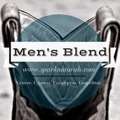 Men's Blend - great for cologne! | Spark Naturals #essentialoil #essentialoils