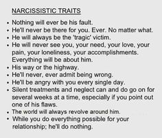 If you live with a narcissist, get out asap. Nothing ever changes with them. They are abusers by nature and will always justify their behavior in their own mind. They will demean you and isolate you in order to keep their control over you. The longer you are abused, the more difficult it is to get out. You will never win no matter how you cry, beg, try to reason with them, etc.....  Don't let this happen to you. Love yourself enough to get out ASAP!!!