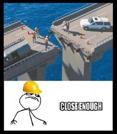 And this is why I hate driving across bridges- these are the people who are building them and it is terrifying!