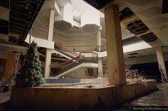 The World's Saddest Christmas Tree, Standing at the Abandoned Randall Park Mall [OC] [4662 x 3100] : AbandonedPorn