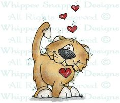 Hearts Kitty - Love Images - Love - Rubber Stamps - Shop