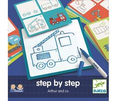 Arthur and Co - Learn to draw Djeco Toys and Hobbies Children How To Draw Steps, Learn To Draw, Create Drawing, Drawing For Kids, Basic Drawing, Drawings For Boyfriend, Simple Pictures, Board Games, Toys